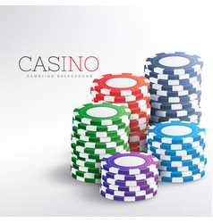Colorful casino chips background vector