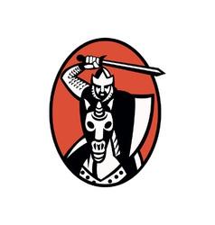 Crusader Riding Horse vector image