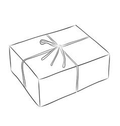 Drawing of box vector image vector image