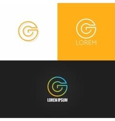 letter G logo alphabet design icon set background vector image