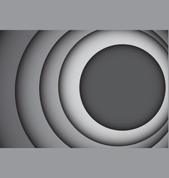 Abstract gray tone circle overlap curve vector