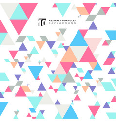 abstract modern colorful triangles pattern vector image