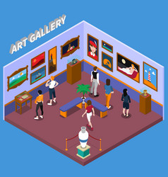 Art gallery isometric vector
