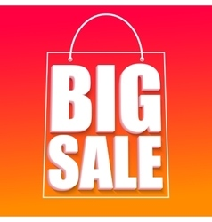 Big sale advertisement vector image