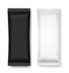 black and white blank foil packaging for food vector image