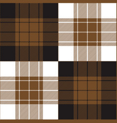 black brown tartan plaid seamless pattern vector image