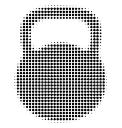 black dotted weight icon vector image