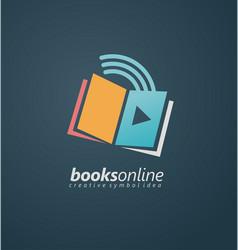 books online creative symbol idea vector image