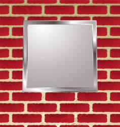 brickwall frame vector image