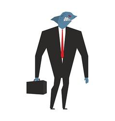 Business shark businessman with head sea predator vector