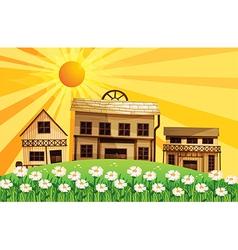 Cartoon Sunshine Village vector image vector image