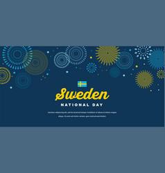 celebrate banner national day sweden vector image