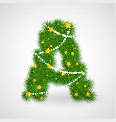 christmas and new year tree abc vector image