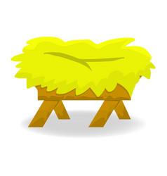 christmas empty jesus manger icon symbol design vector image