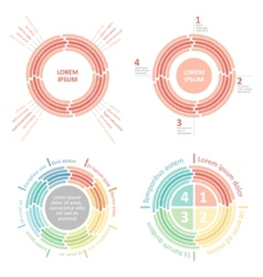 Circle infographics diagram vector