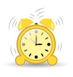 clock alarm three hours vector image