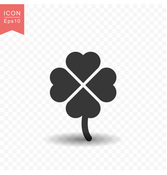clover leaf icon simple flat style vector image