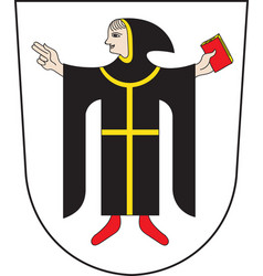 Coat of arms of munich is the capital city of the vector