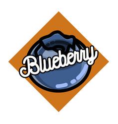 Color vintage fruits emblem vector