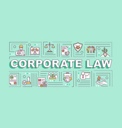 Corporate law word concepts banner vector
