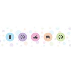Diesel icons vector