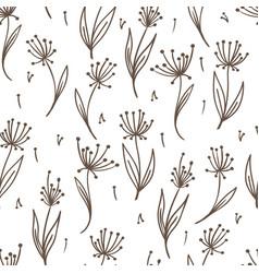 Doodle floral pattern vector
