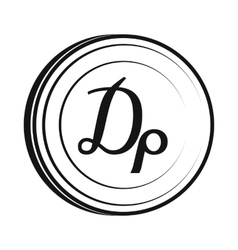 Drachma icon simple style vector image