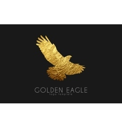 Eagle logo Golden eagle Golden bird logo vector image