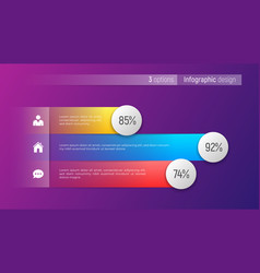 Easy editable 3 options infographic design vector