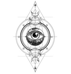 Eye providence masonic symbol all seeing eye vector