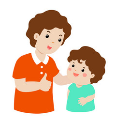father admire son character cartoon xa vector image