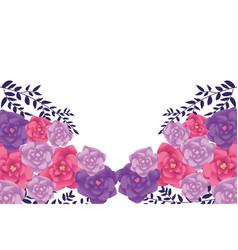 flower decorative background vector image