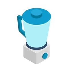 Food processor icon isometric 3d style vector