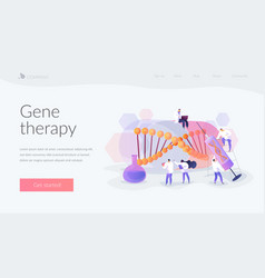 Gene therapy landing page concept vector