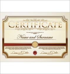 Golden Certificate template vector