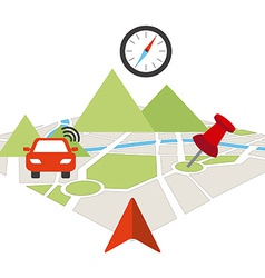 gps concept vector image