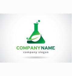 Green lab logo template design emblem design vector