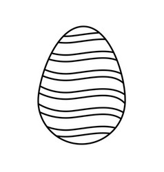 Happy easter egg decoration ornament festive line vector