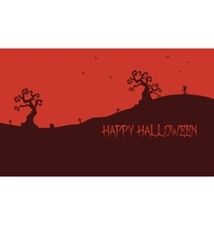 Happy Halloween red backgrounds vector image
