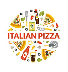 italian pizza banner template traditional vector image
