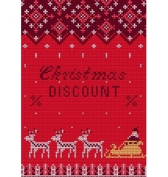 Knitted Sweater Sale vector