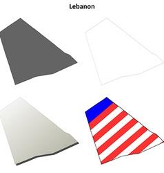 Lebanon map icon set vector