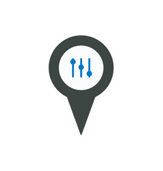 location marker music pin pointer setting icon vector image
