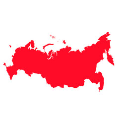 Map of russia with a red filling image vector