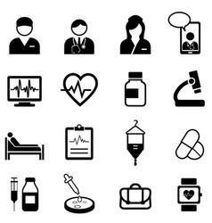 Medical healthcare and health icon set vector