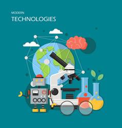 Modern technologies in flat vector