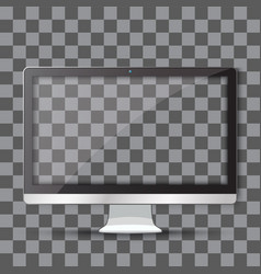 modern tv with transparent vector image