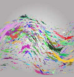multicolored wavy splashes on paper rainbow colors vector image