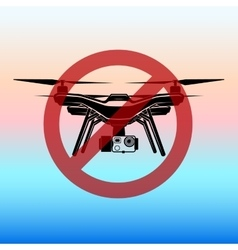 no fly zone airdrone quadrocopter copter vector image