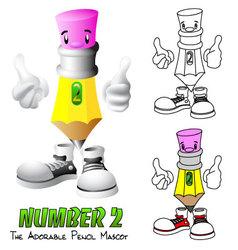 Number 2 vector